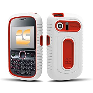 Amazon.com: Huawei Pillar (M615) Duo Shield Hybrid Case - White/Red