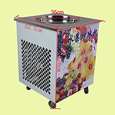 Yoli® Fastest Shipping Removable Round Pan Fried Ice Cream Machine,stainless Steel Round Pot Fried Fruit Ice Cream Machine from YOLI