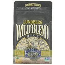 Lundberg Wild Blend Gourmet Blend of Wild and Whole Grain Brown Rice Gluten Free 16-Ounce Bags (Pack of 6) Package May Vary