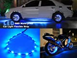 5 Pieces 30cm 15 Leds SMD Waterproof Flexible Blue Light Strip Bar,car Light Flexible Strip