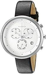 Skagen Gitte Chronograph Leather Watch