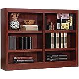 Concepts in Wood Double Wide Wood Veneer Bookcase
