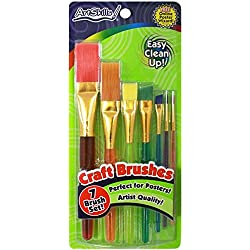ArtSkills Craft Paint Brushes, Assorted Sizes, 7-Pack (PA-1206)