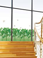Ambiance-sticker Vinilo Decorativo Wheat and dragonflies decals
