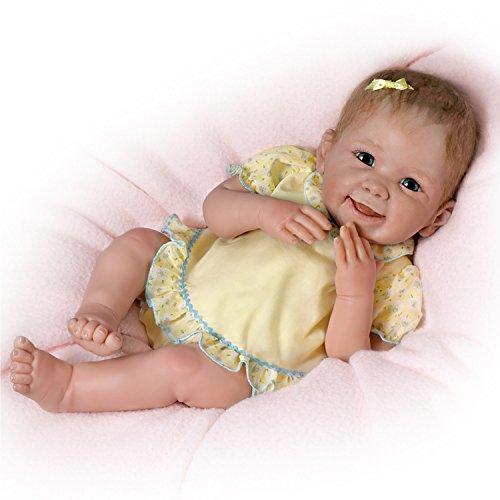 Touch-Activated Baby Doll by Linda Murray Giggles and Moves When You Tickle Her by The Ashton-Drake Galleries