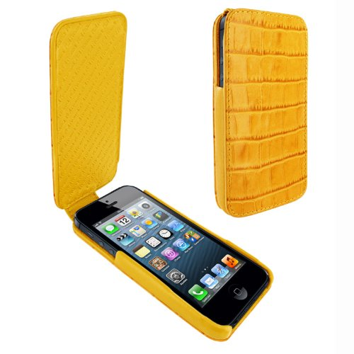 Great Price Apple iPhone 5 / 5S Piel Frama iMagnum Yellow Crocodile Leather Cover