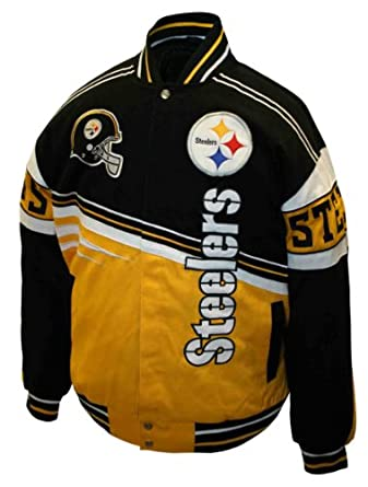 NFL Mens Pittsburgh Steelers 1st and 10 Cotton Twill Jacket by MTC Marketing, Inc