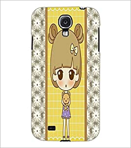 PrintDhaba Cute Doll D-4822 Back Case Cover for SAMSUNG GALAXY S4 (Multi-Coloured)