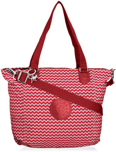 Kipling Womens Shopper Combo S Tote K12275B40 Chevron Red C