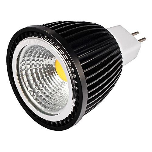 Ljy 5 Watt Gx5.3 Mr16 Cob Led Bulb, 45 Watt Equivalent, 3000-3200K Warm White, 420-450Lm, 45 Degree Beam Angle, Dc 12V, Non-Dimmable