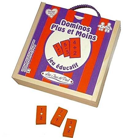 Les Jeux de Paul - Dominos plus ou moins - Bois massif - 2503