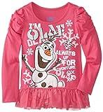 Disney Little Girls' I'm Olaf Long Sleeve Top