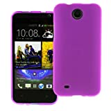 Ownstyle4you Protective Silicone TPU Case Skin Cover for HTC Desire 300 incl. Screenguard in TPU Purple Purple