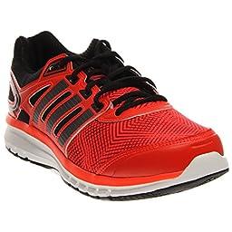 adidas Performance Duramo 6.1 Running Shoe (Little Kid/Big Kid), Solar Red/Black 1/Running White, 11 M US Little Kid