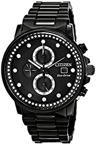 Citizen Watch Nighthawk Men's Quartz Watch with Mother of Pearl Dial Analogue Display and Silver Stainless Steel Bracelet FB3005-55E