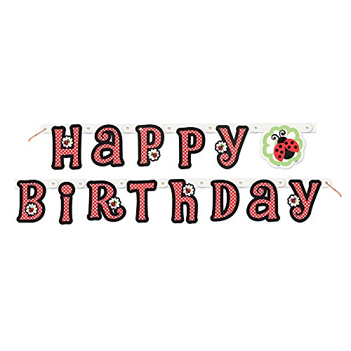 Cheapest Price! 5ft Ladybug Happy Birthday Banner