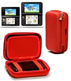 Navitech Red Premium Travel Hard Carry Case Cover Sleeve For The Nintendo 3DS XL & 3DS