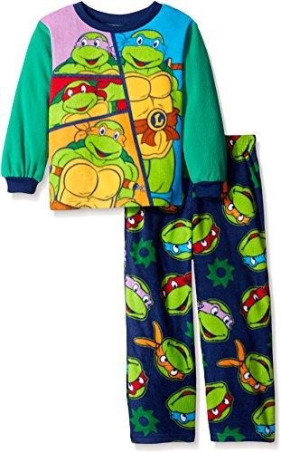 Teenage Mutant Ninja Turtles Little Boys' Turtle Classic 2-Piece Pajama Set, Green, 4T (Ninja Turtles Pajamas Set compare prices)