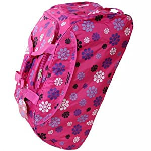 Extra Large 33 Inch Wheeled Holdall Bag (Daisy Pink)