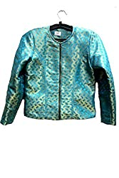 Rg Collection Women's Jacket (Rgwjdel001_Turquoise_Large)