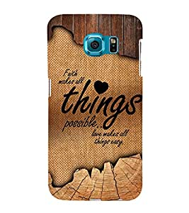 Love Makes All Things Easy 3D Hard Polycarbonate Designer Back Case Cover for Samsung Galaxy S6 Edge+ G928 :: Samsung Galaxy S6 Edge Plus G928F