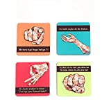 The Crazy Me Bollywood Hand Pattern Coasters Set