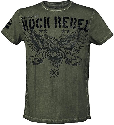 Rock Rebel by EMP Lost Soul T-Shirt verde oliva L