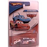 Hot Wheels 2005 Disney Cars Scott Riggs #10 With Lightning Mcqueen & The King On The Hood Of The 1/64 Scale Diecast...