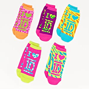 "One Direction Girls 5-pk. ""I Love 1D"" No-Show Socks"
