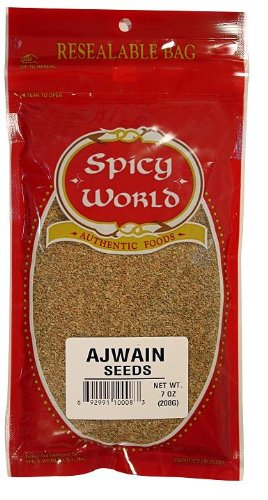 Spicy World Ajwain Seeds, 7-Ounce Pouches (Pack