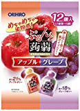 オリヒロプランデュ ぷるんと蒟蒻ゼリーパウチ アップル+グレープ 20gx12個×6袋