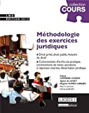 Image de Méthodologie des exercices juridiques : 5 exercices, 3 disciplines