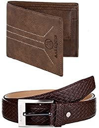 MarkQues Men's Wallet And Belt Combo (MIL-2202 URB-02)