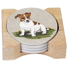 MWAH Kissing Jack Russell Terrier Coasters