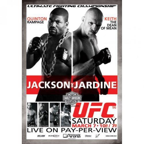 UFC 96 Autographed Poster