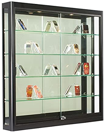glass wall cabinet with lock 2