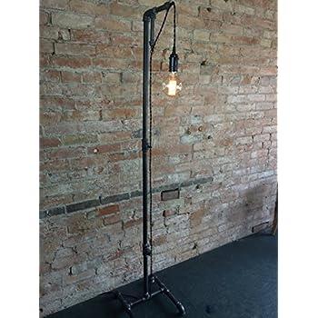 Industrial Style Floor Lamp - Pendant Edison Bulb