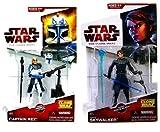 Star Wars Clone Wars ANAKIN & CAPTAIN REX figure bundle