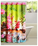 "Swayam Curtain Concept Printed Polyester Premium Shower Curtain - 72""x84"", Multicolor (CHW-5607 Duck)"