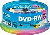 TDK 録画用DVD-RW デジタル放送録画対応(CPRM) 1-2倍速 5色カラーミックスディスク 20枚スピンドル DRW120DMA20PUE