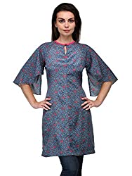Bumpkin Womens Crepe Tunic (B1022_Print_Xs. _Blue, Coral, Pink, White, Black, Grey _X-Small)