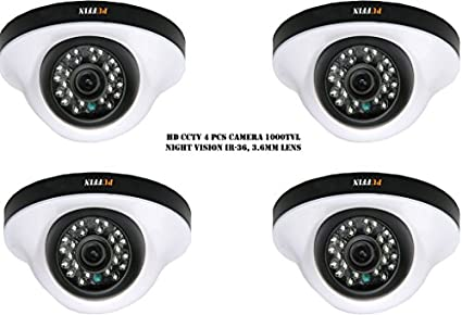 Puffin S28330-4 1000TVL Night Vision Dome Camera (4 PCs)
