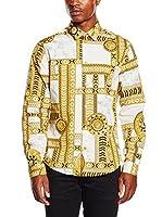 Versace Jeans Camisa Hombre (Blanco / Amarillo)