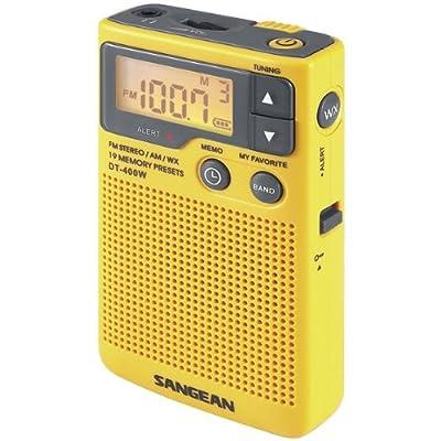 Sangean Dt-400w Digital Am/fm Pocket Radio With Weather Alert - Dt-400w from Sangean