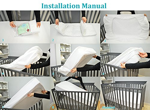 American Baby Company White Waterproof Fitted Crib and Toddler Protective Pad