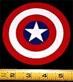 """Captain America Shield HQ 3 Color Red, White and Blue Vinyl Decal! 4.5"""" x 4.5"""""""