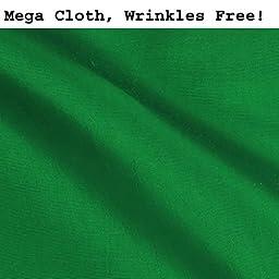 CowboyStudio Premium Mega Cloth Chromakey Green Backdrop 10 x 12 Feet, Wrinkles Free