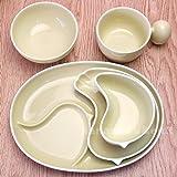 白山陶器 PiPi 子供食器 5点セット(イエロー)/ギフトBOX入 お食い初め 子供用食器 子供食器 pipi