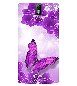 Evaluze Butterfly Printed Back Case Cover for ONE PLUS ONE