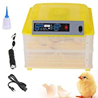 [US Stock]Gracelove Automatic Egg Incubator Poultry Hatcher Brooder Automatic Egg Turning Chicken 112 Eggs 110V by Gracelove